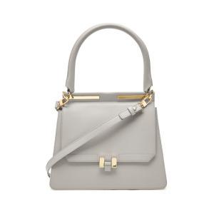 Maison Heroine メゾン ヒロイン ハンドバッグ グレー Marlene Tablet Leather and Suede Handbag|aurora-and-oasis