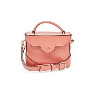 MANU ATELIER マニュ アトリエ ハンドバッグ ピンク Micro Bold Leather Shoulder Bag|aurora-and-oasis