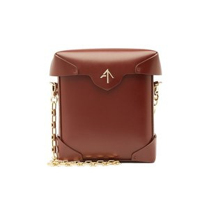MANU ATELIER マニュ アトリエ ショルダーバッグ レッドブラウン Mini Pristine Leather Shoulder Bag|aurora-and-oasis