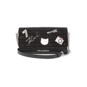 KARL LAGERFELD カール・ラガーフェルド ウォレットオンチェーン ブラック K/Klassik Leather Wallet On Chain|aurora-and-oasis