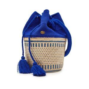 SORAYA HENNESSY ソラヤヘンネシー バスケットバッグ ブルー The Antonella Basket Bag aurora-and-oasis