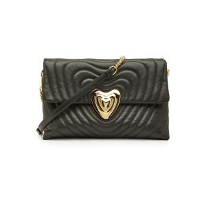 ESCADA エスカーダ ショルダーバッグ ブラック Leather Shoulder Bag|aurora-and-oasis