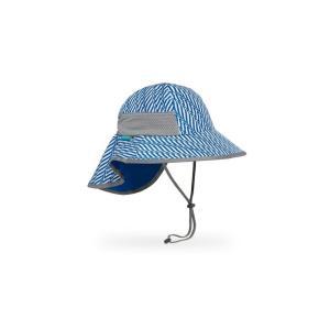 【サンデーアフタヌーンズ】キッズ_プレイハット_ブルーエレクトリックストライプ(帽子/日除けハット/UVケア/アウトドア/登山)|auroralodge