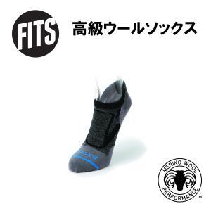【フィッツ FITS】ウルトラ ライト ランナー ノーショウ_コール/チタニウム (靴下/メリノウールソックス/ハイキング/ランニング/made in the USA) auroralodge