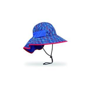 【サンデーアフタヌーンズ】 キッズ プレイハット_ブルー アロウ(帽子/日除けハット/UVケア/アウトドア/登山) auroralodge