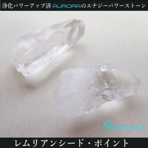 レムリアン水晶 レムリアンシード ジュエリーポイント2個セット 浄化パワーアップ済 125 7.6g|aurorastore