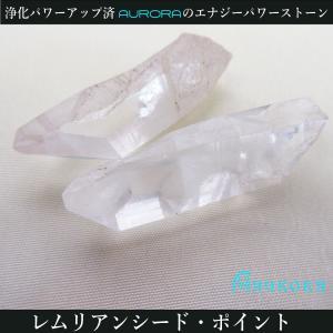 レムリアン水晶 レムリアンシード ジュエリーポイント2個セット 浄化パワーアップ済 126 16.1g|aurorastore