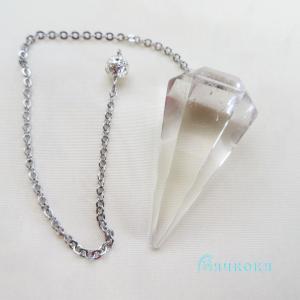 本水晶ペンジュラム(カット)11 フーチ 振り子 占い リーディング ペンデュラム|aurorastore