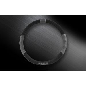 SPARCO CORSA スパルコ コルサ ステアリングカバー グレー ブラック M スエード SPC1108BK_J|autista-s