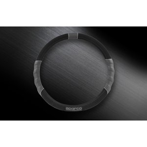SPARCO CORSA スパルコ コルサ ステアリングカバー グレー ブラック S スエード SPC1108BKJ_S|autista-s