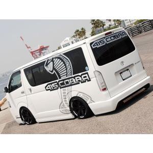 [415 COBRA]  【ナロー】 STAGE2 リアバンパー 4型 ハイエース 200系 標準ボディ 個人宅不可 大型荷物につき特別運賃|auto-craft