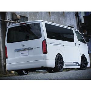 [415 COBRA]  【ナロー】 CLEAN LOOK4 リアバンパー (シングル出し) 4型 ハイエース 200系 標準ボディ 個人宅不可 大型荷物につき特別運賃 auto-craft