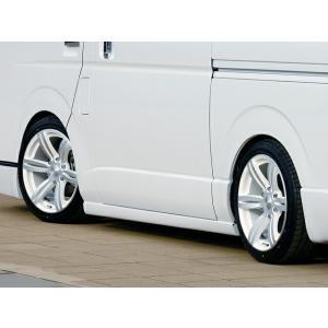 [415 COBRA]  CLEAN LOOK サイドステップ ハイエース 200系 標準/ワイドボディ共通 個人宅不可 大型荷物につき特別運賃 auto-craft