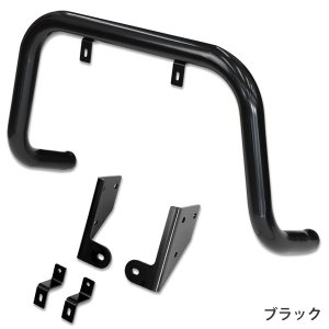 [APIO] アピオ  バンパーガード 純正フロントバンパー用 ブラック ジムニー JB23W|auto-craft