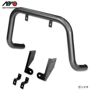 [APIO] アピオ  バンパーガード 純正フロントバンパー用 ガンメタ  ジムニー JB23W|auto-craft