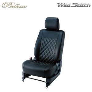 Bellezza ベレッツァ ワイルドステッチ シートカバー ハイエースバン TRH200系 / KDH200系 H27/1〜 5人乗 [SUPER GLダークプライム]|auto-craft