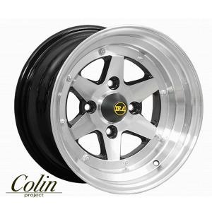 [COLIN PROJECT] 旧車ホイール ロンシャン XR4 ブラックポリッシュ 14×8.0J 4H PCD100 +-0 4本購入で送料無料 auto-craft