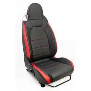 [G'BASE] ジーベース オリジナル ダイハツ 新型 コペン用 シートカバー ブラック×レッド 【DAIHATSU COPEN [LA400K]】|auto-craft