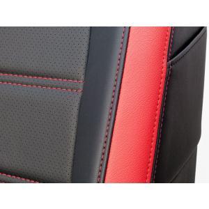 [G'BASE] ジーベース オリジナル ダイハツ 新型 コペン用 シートカバー ブラック×レッド 【DAIHATSU COPEN [LA400K]】|auto-craft|03