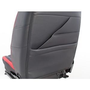 [G'BASE] ジーベース オリジナル ダイハツ 新型 コペン用 シートカバー ブラック×レッド 【DAIHATSU COPEN [LA400K]】|auto-craft|04
