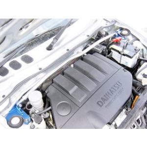 [カワイ製作所] フロントストラットバー (STD-Type) 【 コペン [L880K] 】(ヒューズBOX移動キット付属)|auto-craft