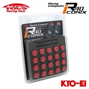 協永産業 Kics レーシングコンポジットR40 アイコニックス M12×P1.25 クローズドエン...