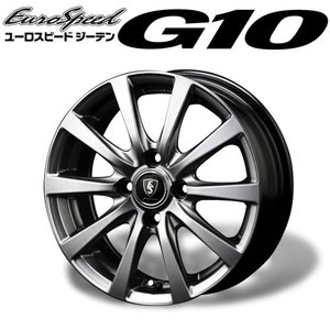 ユーロスピード ≪ G10 (ジーテン)≫ 14×4.5J 4H PCD100 +46 4本購入で送料無料|auto-craft