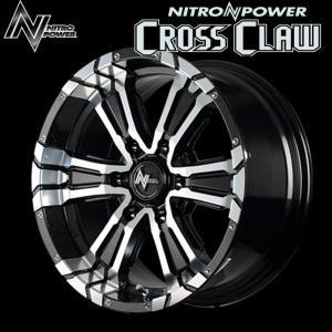 NITROPOWER CROSSCLAW クロスクロウ BMMC (ブラックメタリック+ミラーカット)  16×6.5J 6H PCD139.7 +38 4本購入で送料無料|auto-craft