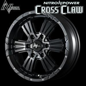 NITROPOWER CROSSCLAW クロスクロウ SBPD (セミグロスブラック+ピアスドリルド)  16×6.5J 6H PCD139.7 +38 4本購入で送料無料|auto-craft