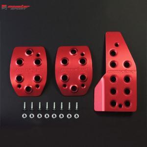 [Monster Sport] モンスタースポーツ スポーツドライビングペダルカバー(レッドアルマイト)【 ジムニー [JB23W] MT車 1〜10型 】【代引不可】|auto-craft