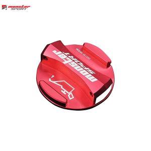 [Monster Sport] モンスタースポーツ  レーシングオイルフィラーキャップ(ワンタッチタイプ) レッドアルマイト ジムニーシエラ JB74W 18.07〜 K15B auto-craft