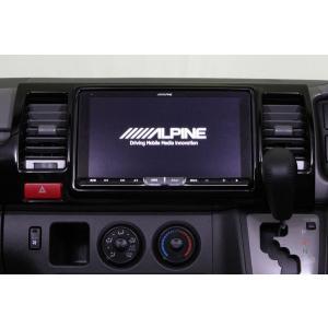 M'z SPEED アルパイン製9インチナビ取付フェイスパネルキット ピアノブラック ハイエース レジアスエース 200系 13/12〜 スーパーGL(ワイドボディー車を除く) auto-craft
