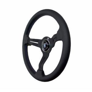 NARDI ナルディ ステアリング SPORTS タイプラリー ブラックレザー/ブラックスポーク(35φ) 限定ブルーロゴモデル|auto-craft
