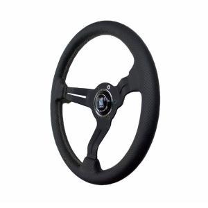 NARDI ナルディ ステアリング SPORTS タイプラリー ブラックレザー/ブラックスポーク(34φ)340mm 限定ブルーロゴモデル|auto-craft