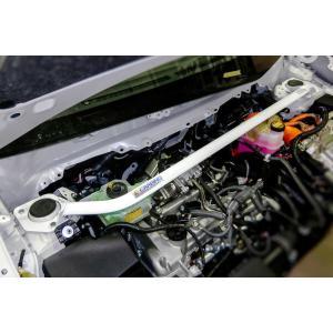 [OKUYAMA] オクヤマ ストラットタワーバー タイプ1 スチール (フロント) 【 アクア NHP10 】|auto-craft