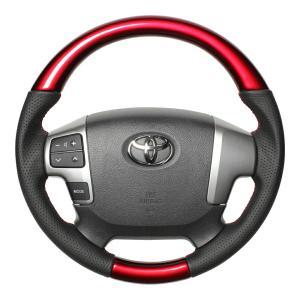 [REAL] レアル 小径ステアリング 【 ハイエース200系 4型 (2013年12月〜) 】 パールレッド|auto-craft