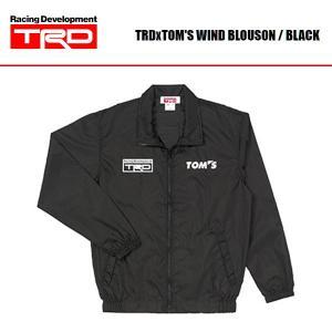 [TRD] TRD×TOM'S ウィンドブルゾン 黒|auto-craft