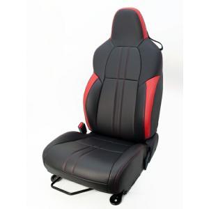 [G'BASE] ジーベース オリジナル ホンダ S660用 シートカバー ブラック×レッド 【HONDA S660 [JW5]】(1台分/左右セット)|auto-craft