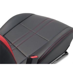 [G'BASE] ジーベース オリジナル ホンダ S660用 シートカバー ブラック×レッド 【HONDA S660 [JW5]】(1台分/左右セット)|auto-craft|02