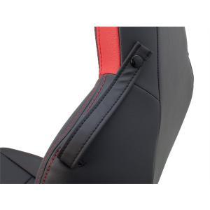 [G'BASE] ジーベース オリジナル ホンダ S660用 シートカバー ブラック×レッド 【HONDA S660 [JW5]】(1台分/左右セット)|auto-craft|04