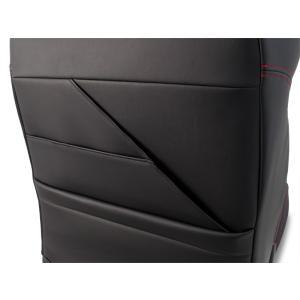 [G'BASE] ジーベース オリジナル ホンダ S660用 シートカバー ブラック×レッド 【HONDA S660 [JW5]】(1台分/左右セット)|auto-craft|06