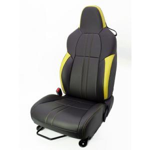 [G'BASE] ジーベース オリジナル ホンダ S660用 シートカバー ブラック×イエロー 【HONDA S660 [JW5]】(1台分/左右セット)