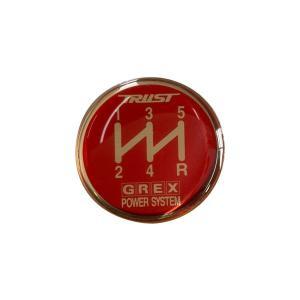 TRUST トラスト GREX シフトノブエンブレム 5速 レッド 【ゆうパケット対応】|auto-craft