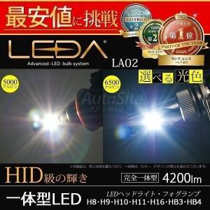 送料無料 レダLA02/ ヘッドライト フォグ H8 H9 H10 H11 H16 HB3 HB4 4200lm 一体型CREE LED 6500k/5000k 12v/24v