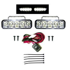 送込 汎用 フロント LED フォグランプ フォグライト スイッチ付|auto-parts-jp