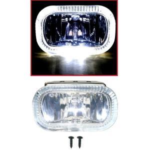 送料無料 汎用 フロント フォグライト  ホワイト LEDイカリング|auto-parts-jp