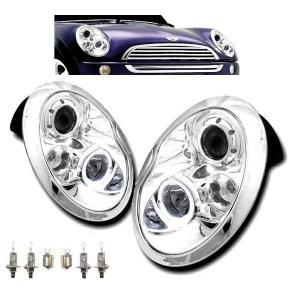 j送込MINI ミニクーパー R50 R52 R53 LEDイカリングヘッドライト auto-parts-jp