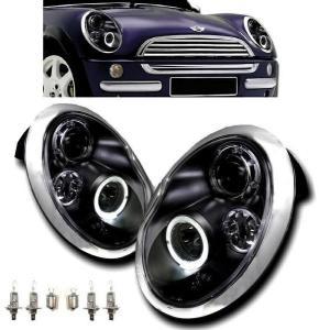 MINI ミニクーパー R50 R52 R53 LEDブラックヘッドライト auto-parts-jp