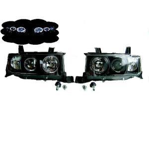 bB NCP30系 LEDイカリング プロジェクター ヘッドライト 黒|auto-parts-jp