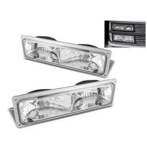 送込 シボレー GMC  サバーバン タホ C1500 K1500 ユーコン ブレイザー フロント ウィンカー パークシグナル 左右セット ランプ|auto-parts-jp